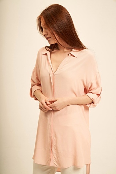 Silk and Cashmere Tunik Pembe